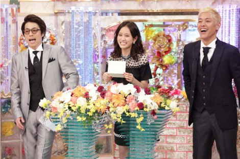 2月17日放送、テレビ朝日系『金曜★ロンドンハーツ2時間スペシャル』で奇跡の一枚大賞決定。プレゼンターは前田敦子(C)テレビ朝日
