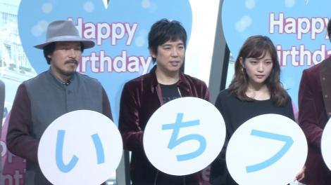 (左から)スキマスイッチ・常田真太郎、大橋卓弥、川口春奈 (C)ORICON NewS inc.
