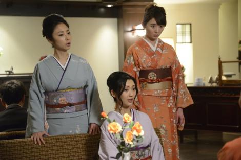 テレビ東京『こんにちは、女優の相楽樹です。』#2(3月13日放送)より。(左から)MEGUMI、壇蜜、おのののか(C)テレビ東京