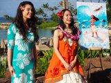 ハワイ育ちのアウリィと沖縄育ちの屋比久。2人とも海に囲まれて育った(C)ORICON NewS inc.