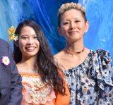 ディズニー・アニメーション『モアナと伝説の海』のイベントに出席した(左から)屋比久知奈、夏木マリ (C)ORICON NewS inc.