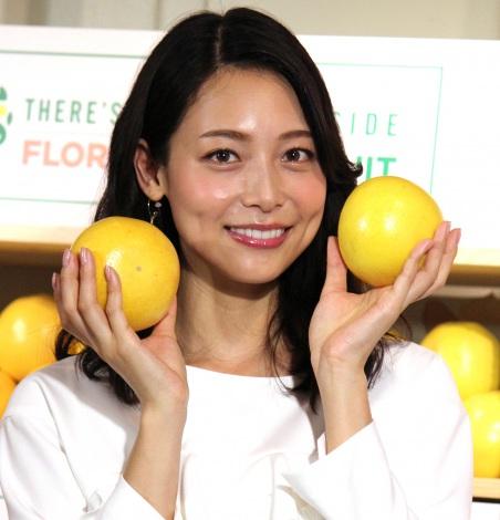 結婚生活について「幸せです」とのろけた相武紗季=『AMAZING!フロリダグレープフルーツフェア』スタートイベント (C)ORICON NewS inc.