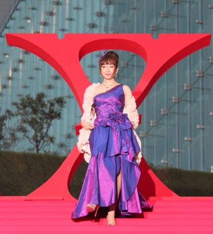 ドキュメンタリー映画『WE ARE X』の完成披露ジャパンプレミア紅カーペットイベントに出席した神田うの (C)ORICON NewS inc.