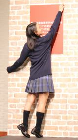 『第89回選抜高等学校野球大会』の『センバツ応援ポスター』のイメージキャラクターに選出された岡田結実 (C)ORICON NewS inc.