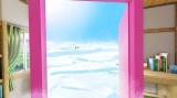 扉の向こうに広がっていたのは『映画ドラえもん のび太の南極カチコチ大冒険』(3月4日公開)の舞台、南極(C)藤子プロ・小学館・テレビ朝日・シンエイ・ADK 2017(C)BANDAI NAMCO Entertainment Inc.