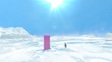 扉の向こうに広がっていたのは『映画ドラえもん のび太の南極カチコチ大冒険』(3月4日公開)の舞台、南極(C)藤子プロ・小学館・テレビ朝日・シンエイ・ADK 2017 (C)BANDAI NAMCO Entertainment Inc.