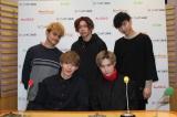 FlowBack(前列左から)TATSUKI、MARK、(後列左から)REIJI、JUDAI、MASAHARU (C)ORICON NewS inc.