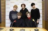 FlowBack(前列左から)TATSUKI、MARK、(後列左から)REIJI、JUDAI、MASAHARU