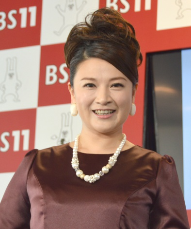 BS11チャンネルの4月期改編説明会にスペシャルゲストとして登壇した島崎和歌子 (C)ORICON NewS inc.