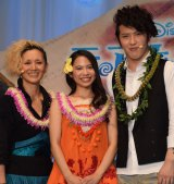 『モアナと伝説の海』プレミアイベントに出席した(左から)夏木マリ、屋比久知奈、尾上松也 (C)ORICON NewS inc.