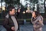 17日放送の日本テレビ系金曜ロードSHOW!特別ドラマ企画『北風と太陽の法廷』(後9:00)にカメオ出演する椿鬼奴と大夫妻(C)日本テレビ