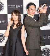 『ORIENTAL LOUNGE EVE』渋谷店オープン記念レセプションパーティーに出席した(左から)大川藍、ユージ (C)ORICON NewS inc.