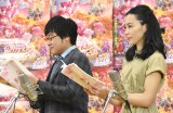 公開アフレコ取材に出席した(左から)山里亮太、木村佳乃 (C)ORICON NewS inc.