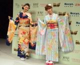 きものクイーンコンテスト2017(左から)是枝瞳、藤田ニコル