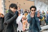 『ゆうばり国際ファンタスティック映画祭2017』が開幕。写真は夕張市民から歓迎を受ける(左から)斎藤工、村上淳