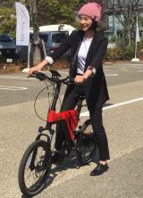 電動アシスト自転車『BESV』の新モデル発売記念イベントに出席したのん (C)ORICON NewS inc.