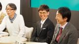 競馬トークバラエティ番組『競馬のおはなし』に出演した戸崎圭太騎手(中央)