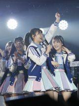 選手宣誓したHKT48の松岡はな=『つぶやきFES 博欅場所〜GUM ROCK FES2〜』の模様