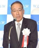 『第10回 WOWOWシナリオ大賞』の授賞式に出席した田中晃社長 (C)ORICON NewS inc.