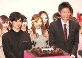映画『暗黒女子』のイベントに出席した(左から)千葉雄大、島田秀平 (C)ORICON NewS inc.