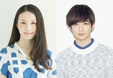 NHK・BSプレミアム『ソースさんの恋』(6月1日スタート)に主演するミムラと相手役の千葉雄大