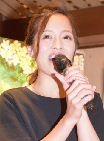 ヘアケアブランド『Ahalo Butter』の新商品発表会に出席した小森純 (C)ORICON NewS inc.