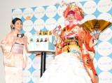 モンテール『Sweets Plan Cafe-Happy 10 Minutes-』のオープニングイベントに出席した(左から)関根麻里、ぺえ (C)ORICON NewS inc.