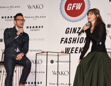 ファッション談義に花を咲かせた(左から)中田英寿氏、長谷川京子=『第12回 GINZA FASHION WEEK』のオープニングパーティー (C)ORICON NewS inc.
