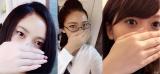 『タラレバ娘』のものまねメイクをしたざわちん(左から吉高由里子、大島優子、榮倉奈々)