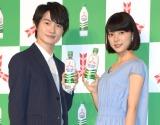 髪の毛を30センチばっさり切った芳根京子(右)と神木隆之介 (C)ORICON NewS inc.