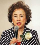 ドラマ劇場『やすらぎの郷』の制作発表記者会見に出席した有馬稲子 (C)ORICON NewS inc.
