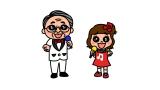 司会を務めるオリジナルキャラのロマンスグレーひろし&カナデちゃん(C)テレビ東京