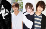 B-PROJECT on STAGE『OVER the WAVE!』第1弾キャスト(左から)とまん、藤田富、田口涼、大平峻