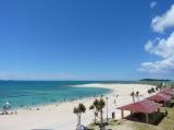 総選挙開票イベント会場の沖縄・豊崎海浜公園 美らSUNビーチ