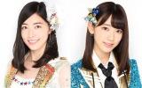 AKB48の48thシングルでWセンターを務める(左から)松井珠理奈、宮脇咲良(C)AKS