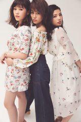 『CanCam』5月号に登場するE-girls(左から)鷲尾伶菜、楓、石井杏奈