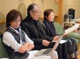 作曲担当つんく♂と作詞担当・松本隆氏がクミコのレコーディングに立ち会った