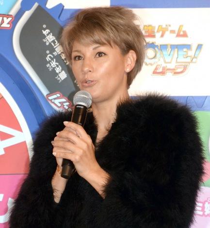 タカラトミー『人生ゲーム MOVE』の新商品発表会に出席した梅宮アンナ (C)ORICON NewS inc.