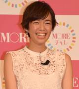 『MORE40周年記念「モアチャレ」』プロジェクト発表会に登場した佐藤栞里 (C)ORICON NewS inc.