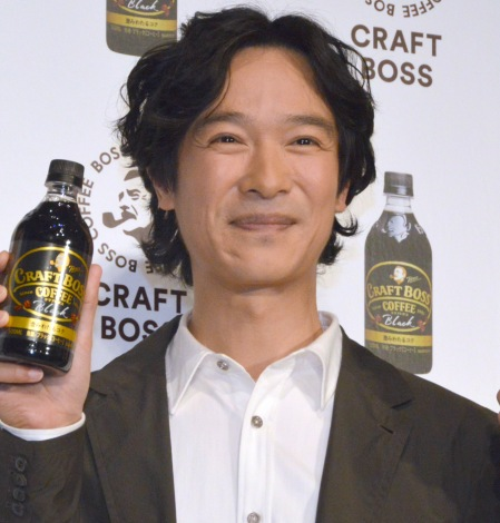 『CRAFT BOSS』新CM発表会に出席した堺雅人 (C)ORICON NewS inc.