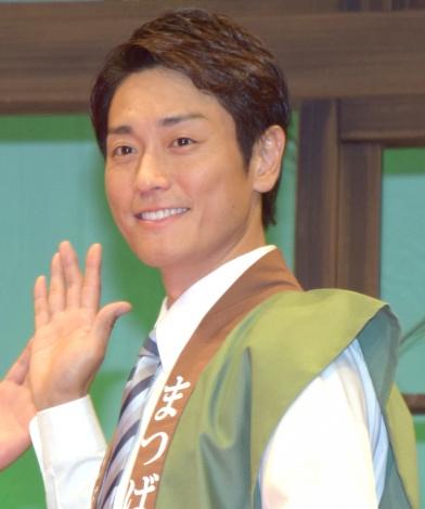 舞台『わらいのまち』公開ゲネプロ後の囲み取材に出席した永井大 (C)ORICON NewS inc.