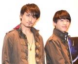 『仮面ライダーアマゾンズ』シーズン2の先行試写会に参加した(左から)勝也、小林亮太 (C)ORICON NewS inc.