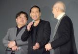 映画『たたら侍』の完成披露試写会に出席した(左から)錦織良成監督、EXILE HIRO、津川雅彦 (C)ORICON NewS inc.