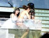 総選挙V2の公約「熱湯風呂」で悲鳴をあげる指原莉乃 (C)AKS