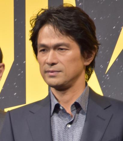 映画『孤狼の血』の製作発表会見に出席した江口洋介 (C)ORICON NewS inc.
