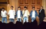 マスオさんのものまねを披露=MYNAME5thシングル「出会いあいして」のリリース記念イベント (C)ORICON NewS inc.