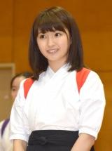 舞台『あさひなぐ』高校薙刀(なぎなた)部サプライズ訪問イベントに登場した井上小百合