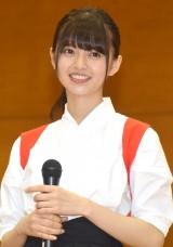 舞台『あさひなぐ』高校薙刀(なぎなた)部サプライズ訪問イベントに登場した齋藤飛鳥