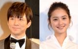 日本テレビ系バラエティー『行列のできる法律相談所3時間SP』で結婚を発表した渡部建(左)と佐々木希 (C)ORICON NewS inc.