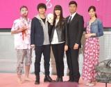 (左から)長浜之人、上川隆也、観月ありさ、高嶋政宏、新川優愛 (C)ORICON NewS inc.
